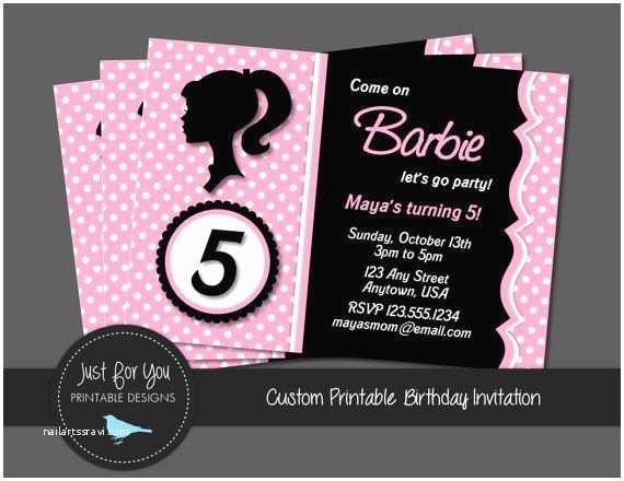 Barbie Birthday Invitations Best 25 Barbie Invitations Ideas On Pinterest