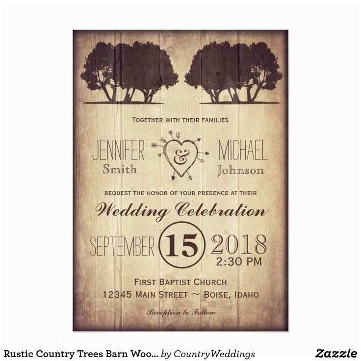 Barn Wood Wedding Invitations 1000 Images About Rustic Country Wedding Invitations On