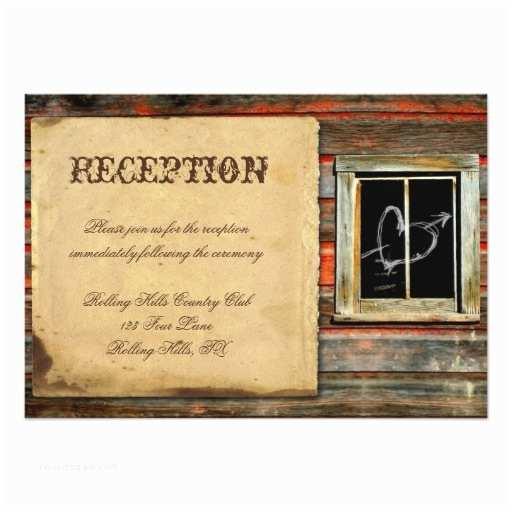 "Barn Wood Wedding Invitations Rustic Barn Wood Wedding Reception 3 5"" X 5"" Invitation"