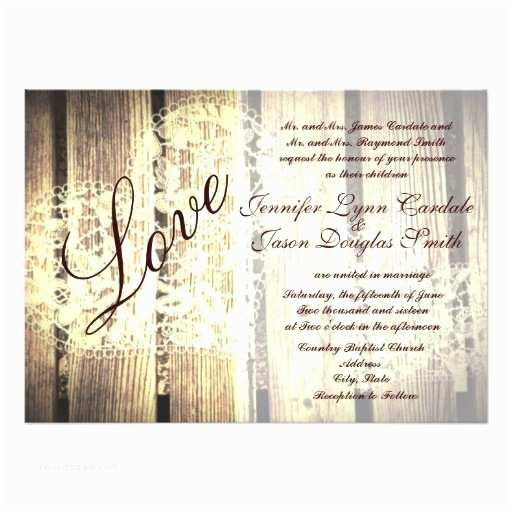 Barn Wood Wedding Invitations Rustic Country Barn Wood Love Wedding Invitations Custom