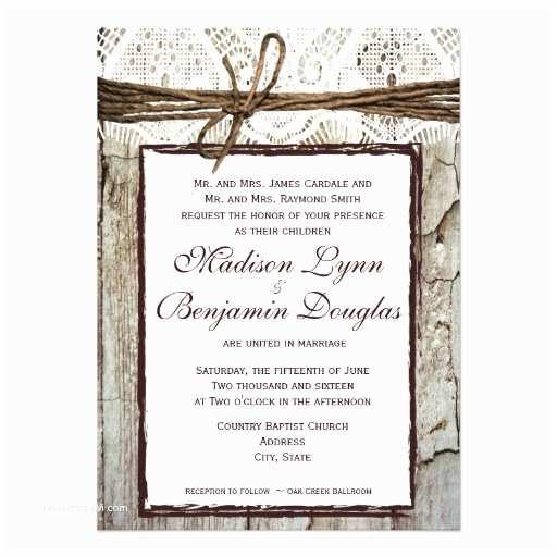 "Barn Wood Wedding Invitations Rustic Wood Wedding Invitations 4 5"" X 6 25"" Invitation"