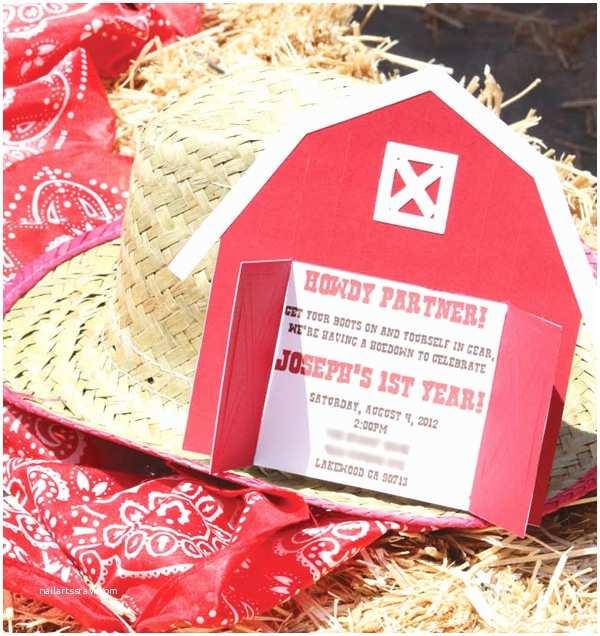 Barnyard Birthday Invitations Barnyard Birthday Party Hostess with the Mostess