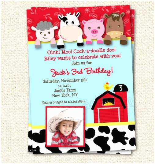 Barnyard Birthday Invitations Farm Birthday Invitation