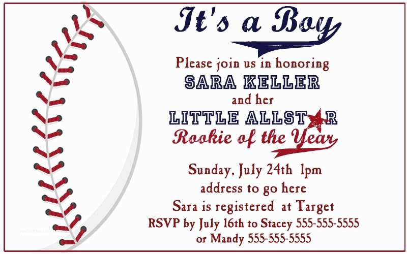 Baseball Baby Shower Invitations Baseball Baby Shower Invitation