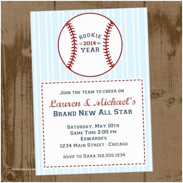 Baseball Baby Shower Invitations Baseball Baby Shower