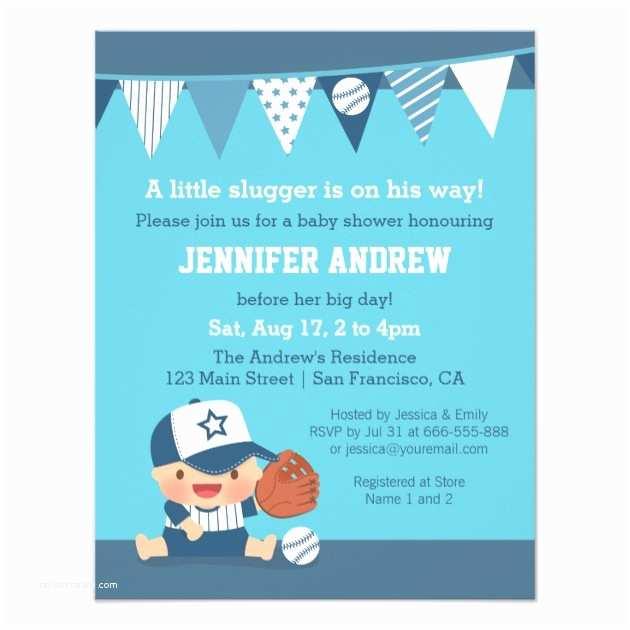 Baseball Baby Shower Invitations Custom Sports Baby Shower Invites Templates