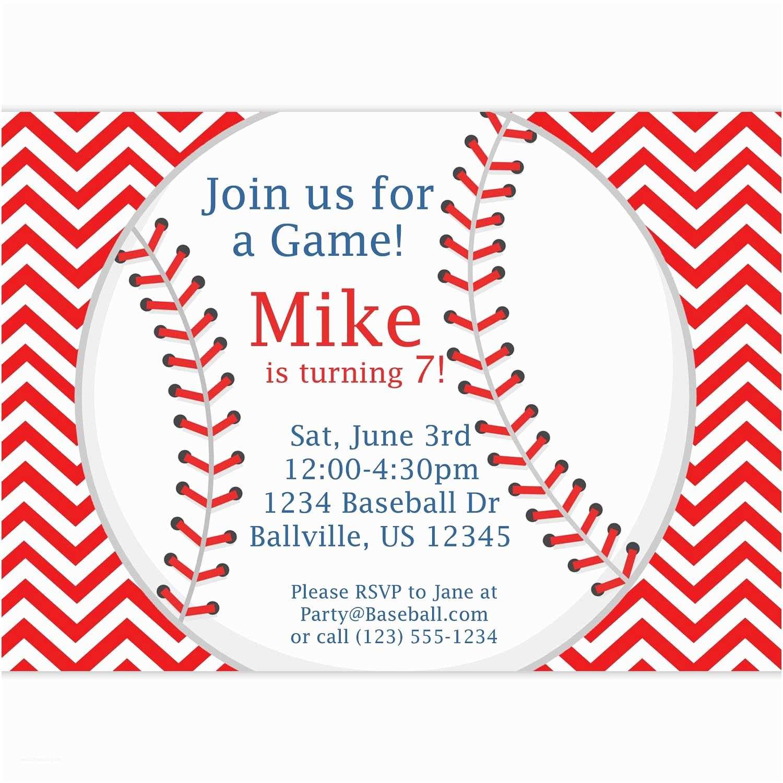 Baseball Party Invitations Baseball Game or Batting Cages Invitation