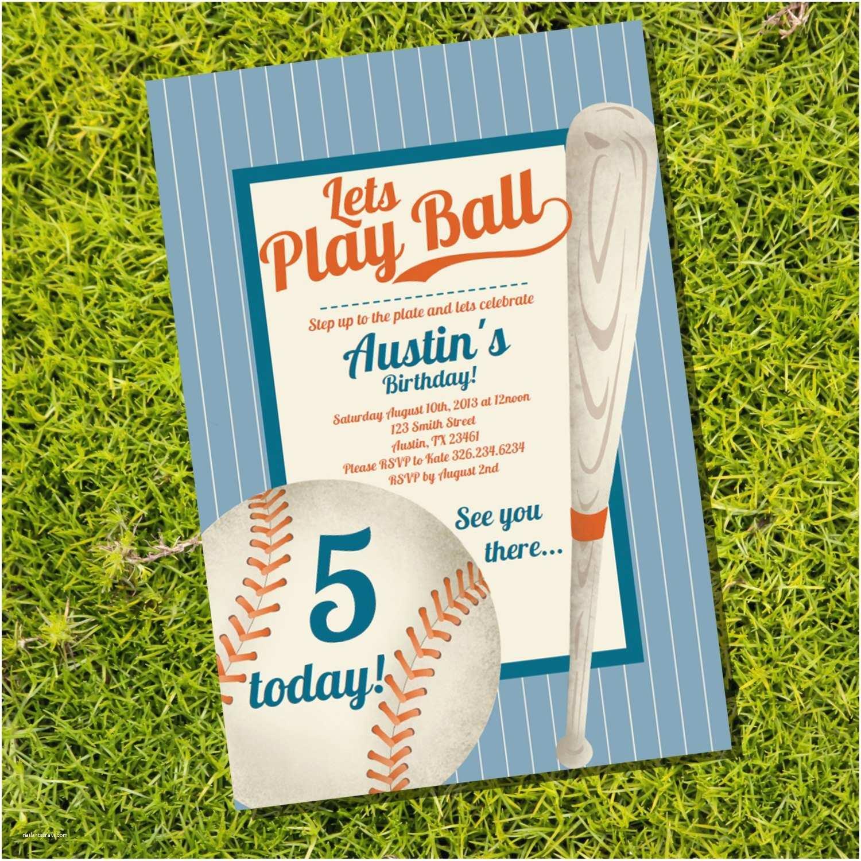 baseball party invitation vintage