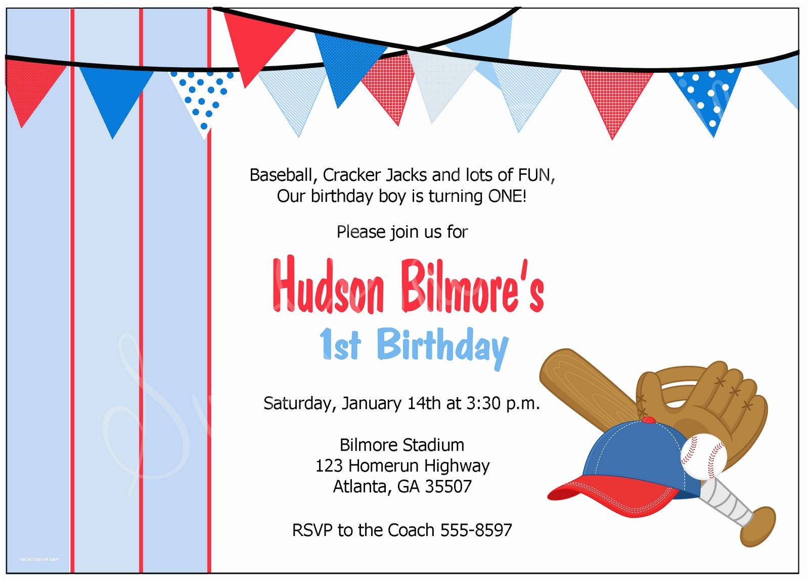 Baseball Party Invitations Baseball Party Invitations Mickey Mouse Invitations