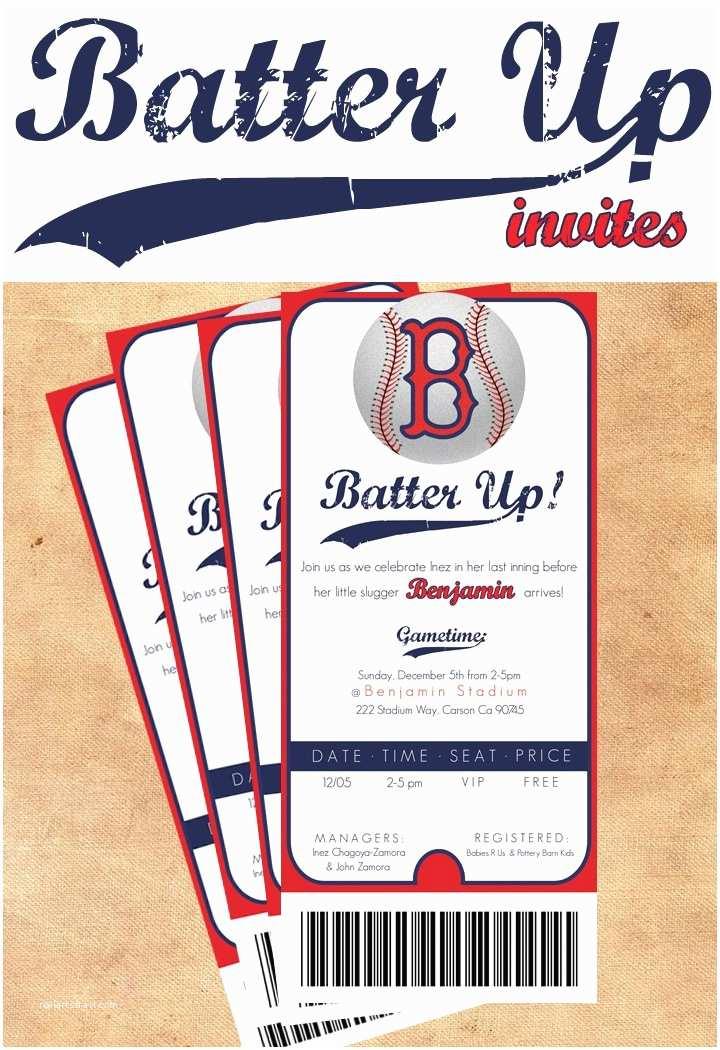 Baseball Party Invitations Baseball themed Shower Invite Baby Shower