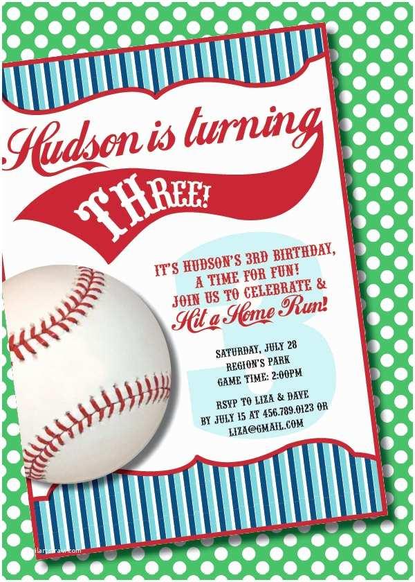 Baseball Party Invitations Diy Printable Vintage Baseball Birthday Party Invitation