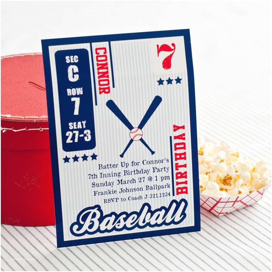 Baseball Party Invitations Free Printable Birthday