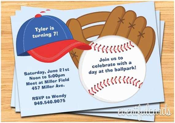 Baseball Party Invitations Birthday Free Printable