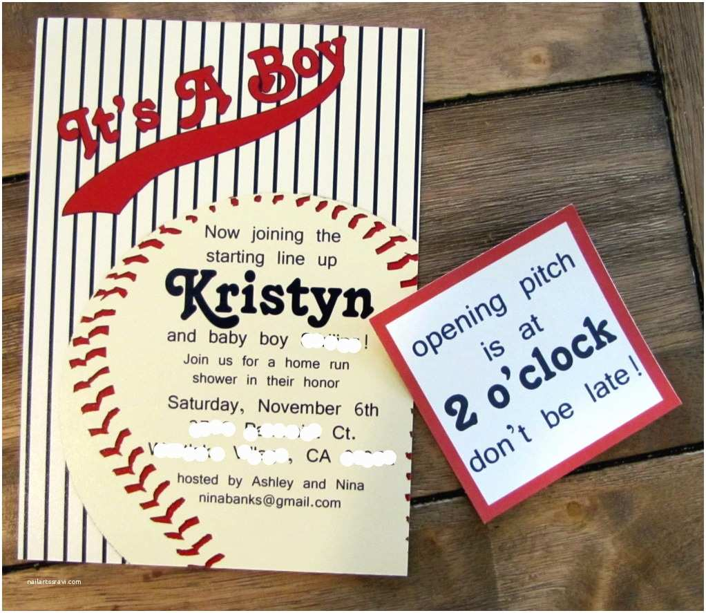 Baseball Party Invitations Vintage Celebrate Little Miss Momma