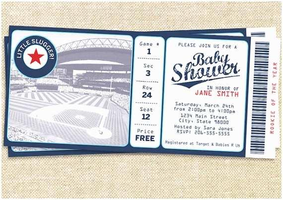 Baseball Themed Baby Shower Invitations For The Lil Slugger Baseball Baby Shower B