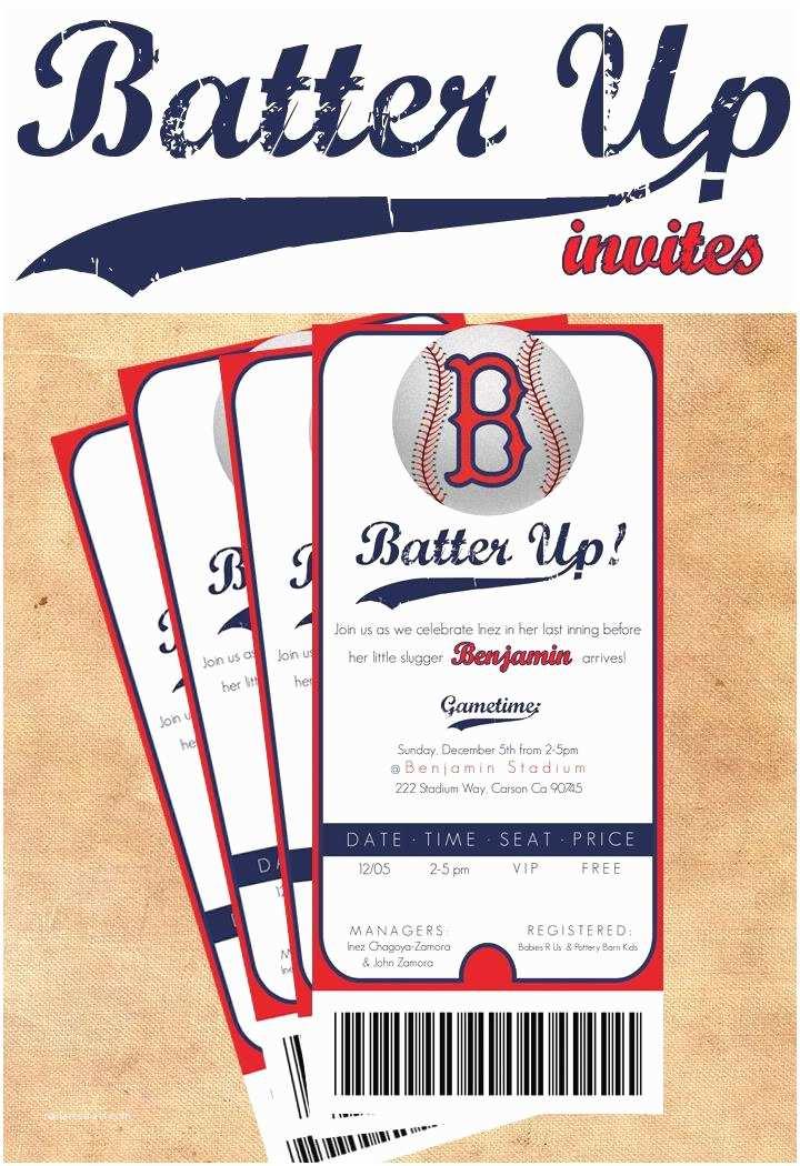 """Baseball Themed Baby Shower Invitations Funfavors Events Thursday  """"batter Up"""" Baseball"""