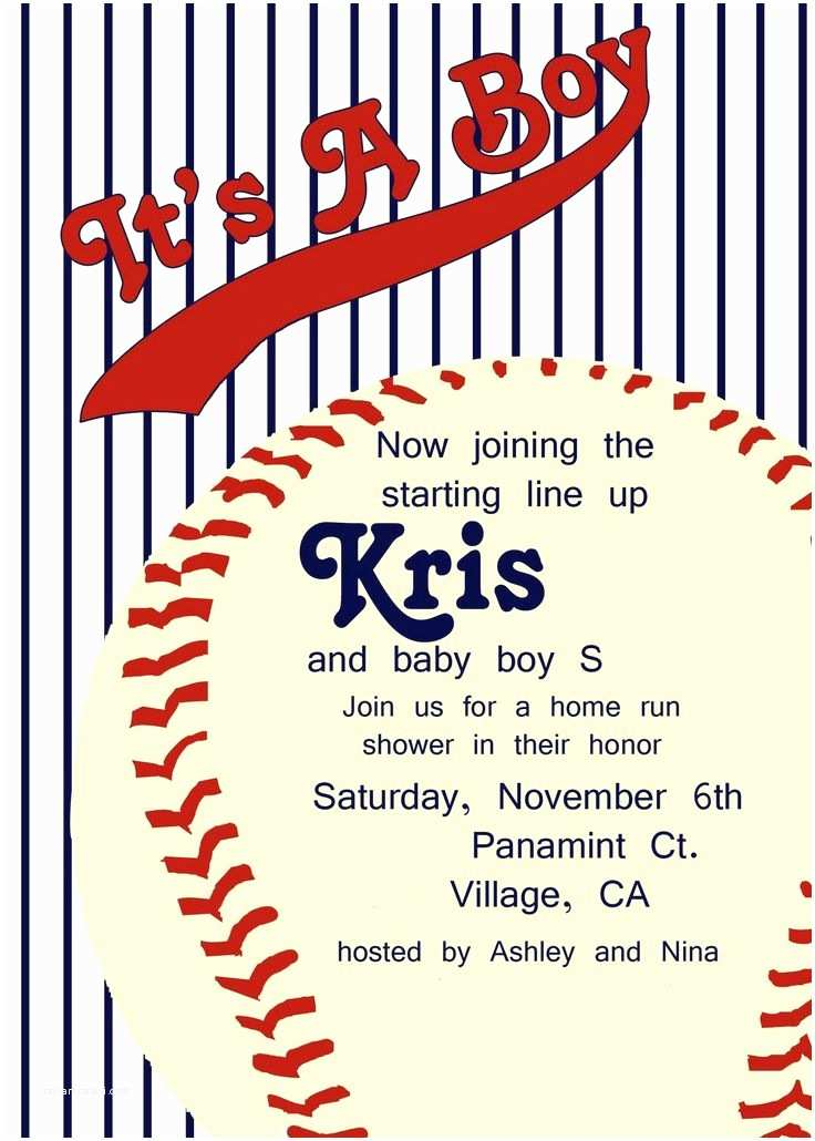 Baseball Themed Baby Shower Invitations It's A Home Run Vintage Baseball Baby Shower Momma