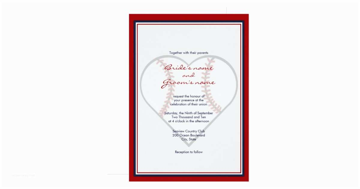 baseball theme wedding invitations