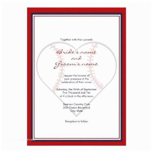Baseball Wedding Invitations Baseball theme Wedding Invitations