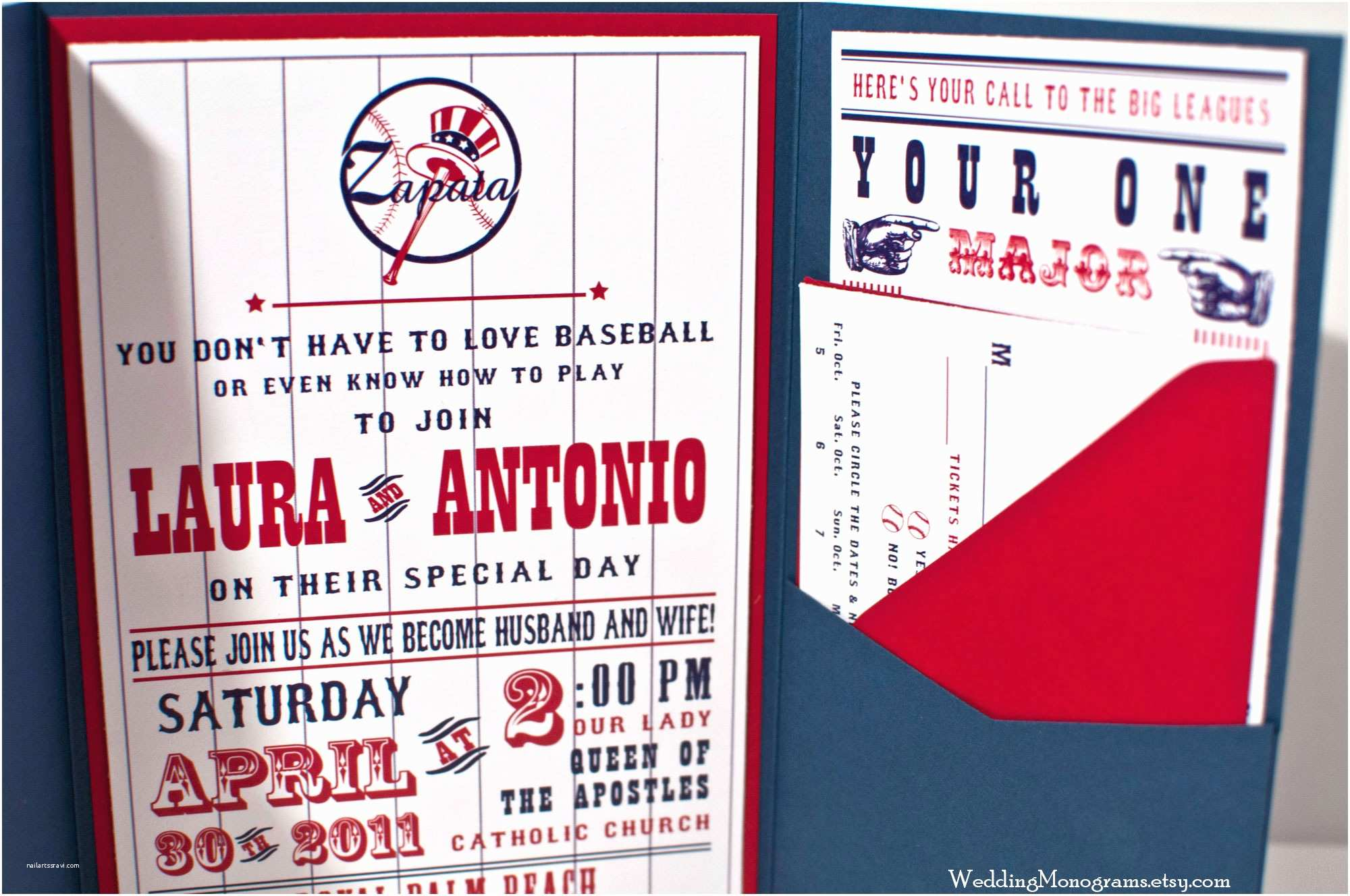 Baseball Wedding Invitations Baseball themed Wedding Invitations – Baseball Invitations