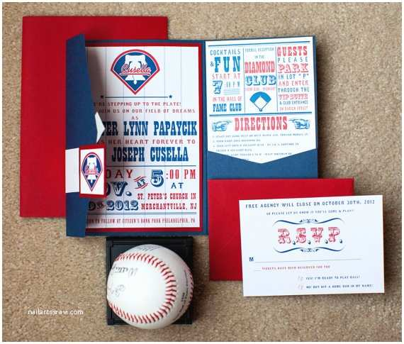 Baseball Wedding Invitations Perfect Catch A Baseball Wedding B Lovely events