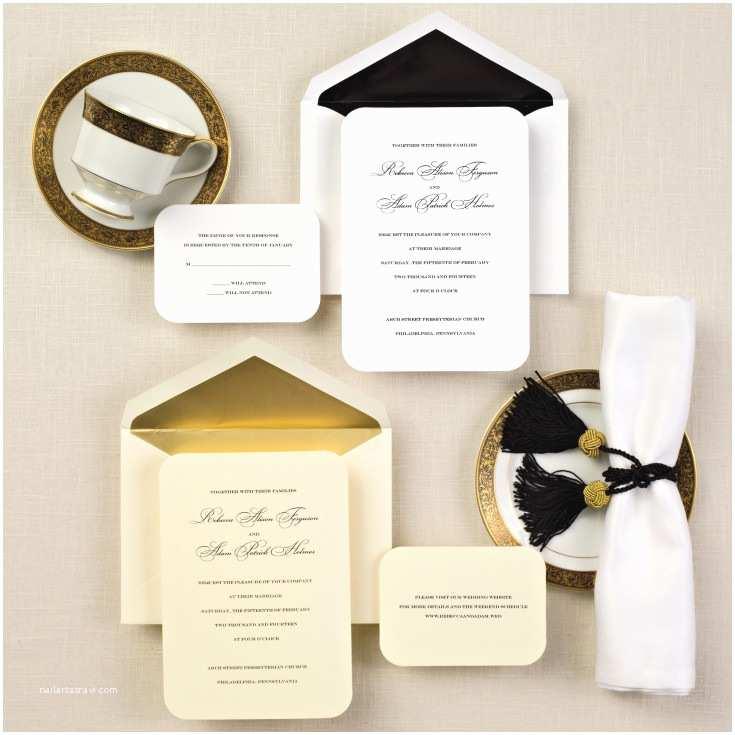 Basic Wedding Invitations Simple Elegance Wedding Invitation