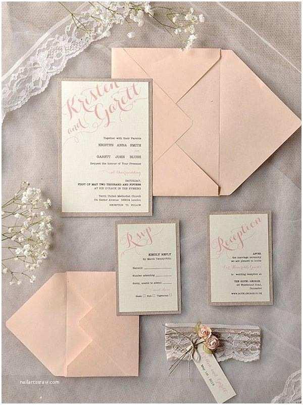 Basic Wedding Invitations top 15 Popular Rustic Wedding Invitaitons Idea Samples On