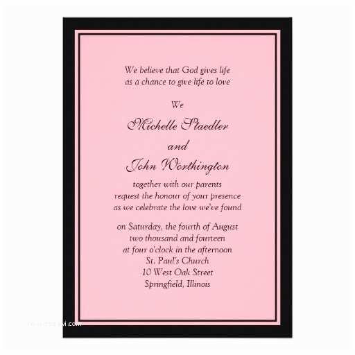 Basic Wedding Invitations Wedding Invitation Wording Wedding Invitation Simple Template