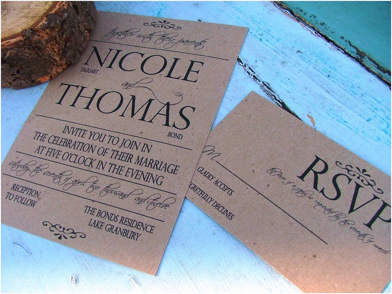 Basic Wedding Invitations Wedding Invitations Simple and Bold E by Sweetinvitationco