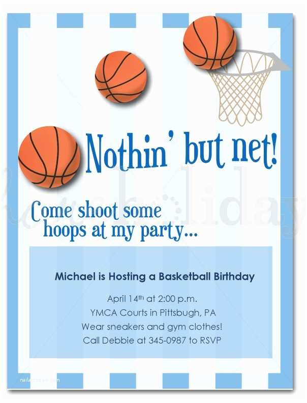 Basketball Birthday Invitations Basketball Birthday Invitation Templates