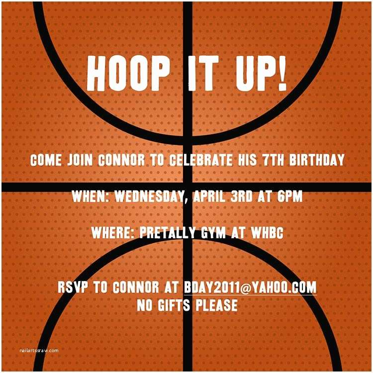 Basketball Birthday Invitations Basketball Invitation Birthday Invitations From Cardsdirect