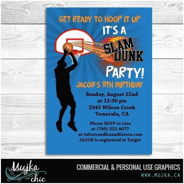 Basketball Birthday Invitations Basketball Invitations Template Resume Builder