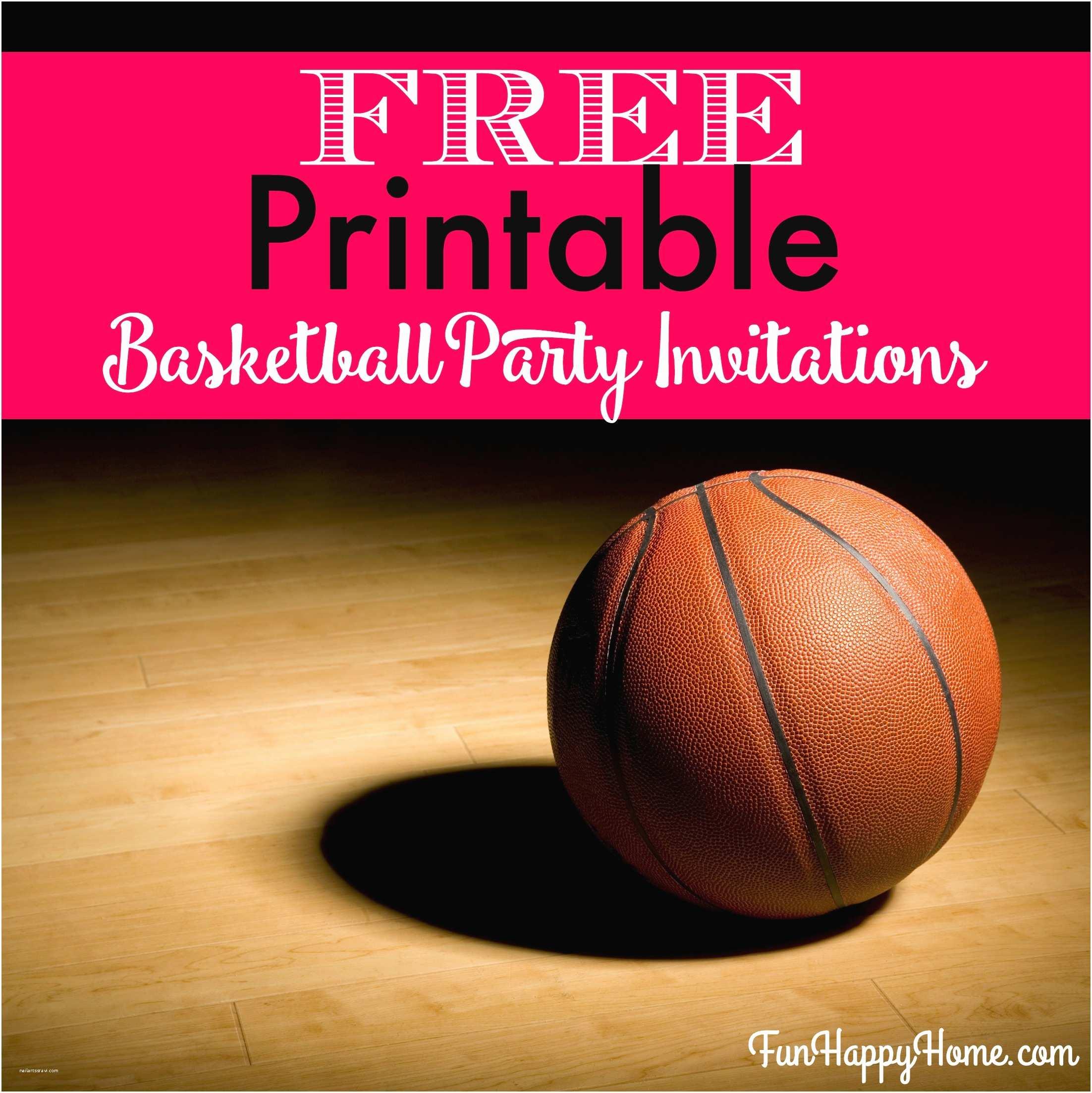Basketball Birthday Invitations Basketball Party Invitations – Gangcraft