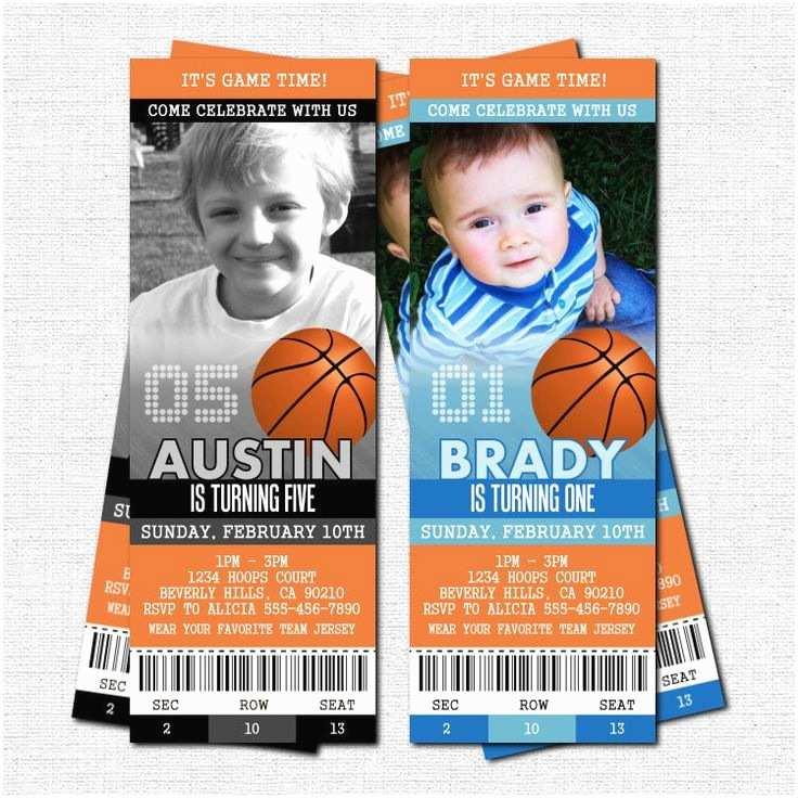 Basketball Birthday Invitations Basketball Ticket Invitations Birthday Party Bonus Thank