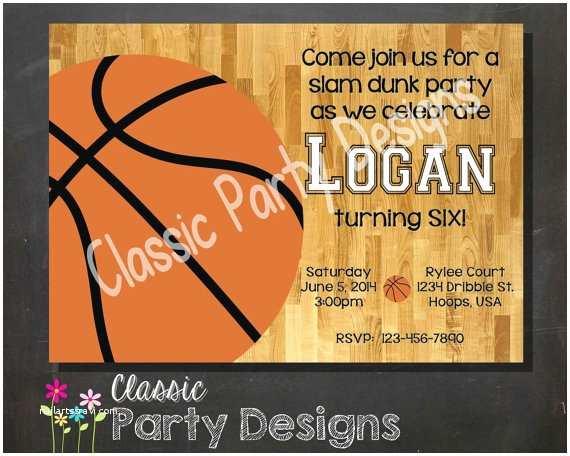 Basketball Birthday Invitations Sale Basketball Birthday Party Invitation Digital