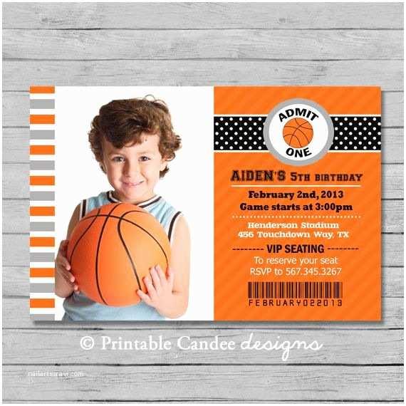 Basketball Party Invitations Basketball Birthday Invitation Diy Custom Printable