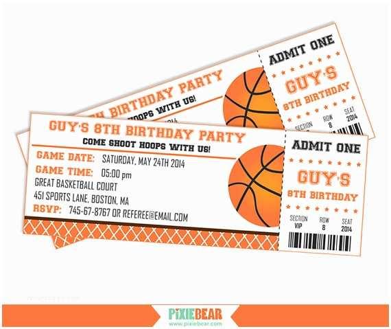 Basketball Party Invitations Basketball Party Invitation Basketball Birthday