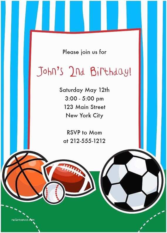Basketball Party Invitations Sports themed Birthday Party Invitations