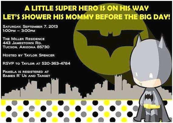 Batman Baby Shower Invitations Batman Baby Shower Invitations A Birthday Cake