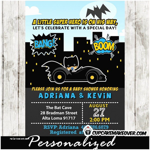 Batman Baby Shower Invitations Batman Baby Shower Invitations Little Superhero