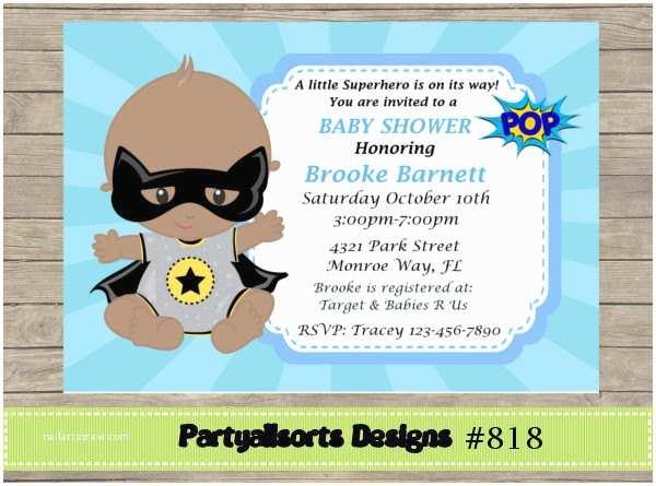 Batman Baby Shower Invitations Diy Baby Shower Batman Invitation