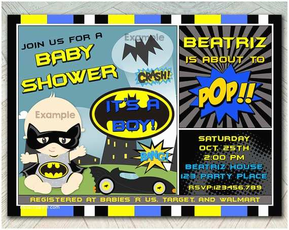 Batman Baby Shower Invitations Off Sale Batbaby Shower Invitation Super Hero by
