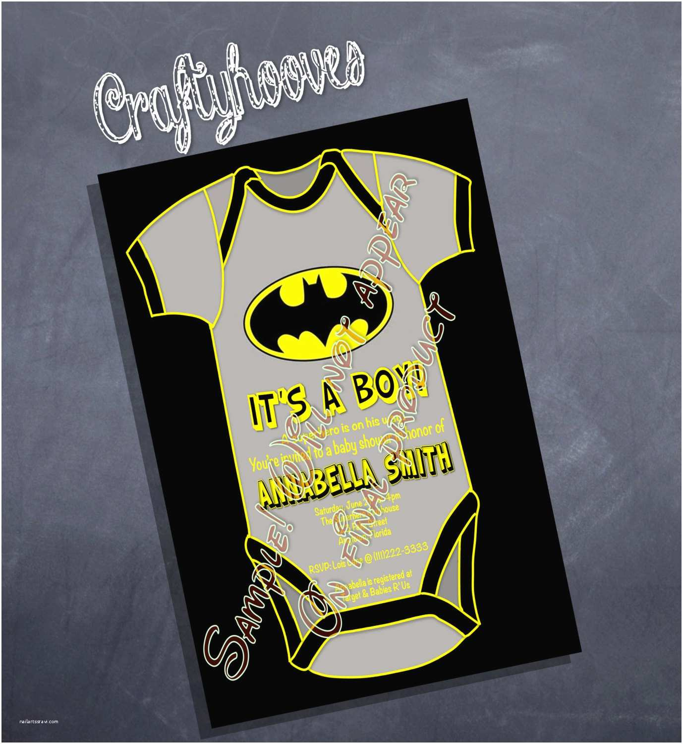 Batman Baby Shower Invitations Superhero Batman Baby Shower It S A Boy Party by Craftyhooves
