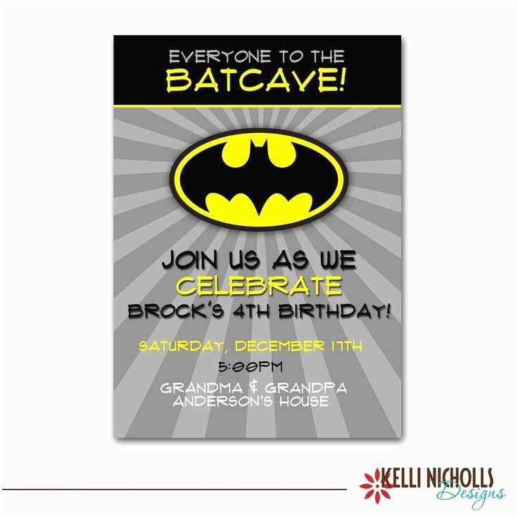 Batman Birthday Invitations 17 Best Images About Batman Birthday Party On Pinterest