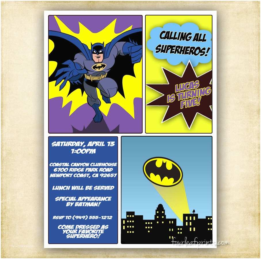 Batman Birthday Invitations Batman Birthday Invitation Etsy A Global Handmade and