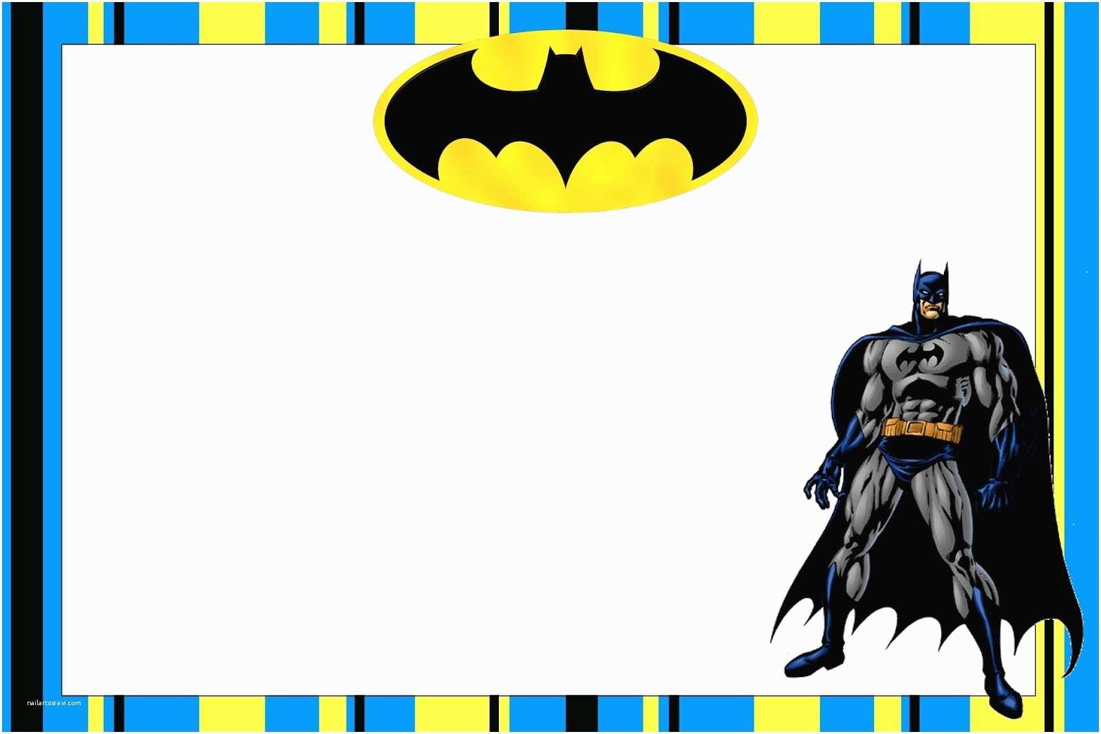 Batman Birthday Invitations Batman Free Printable Invitations
