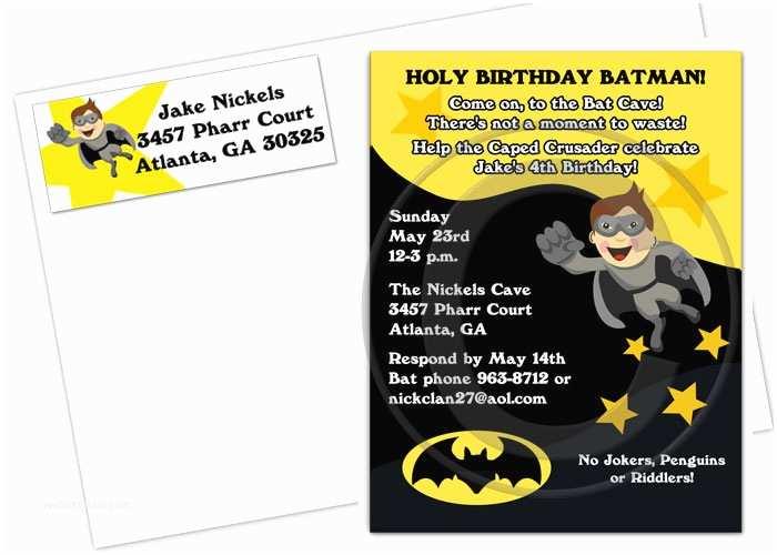 Batman Birthday Invitations Batman Invitation