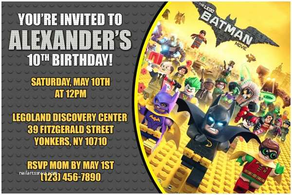 Batman Birthday Invitations Batman Invitations General Prints