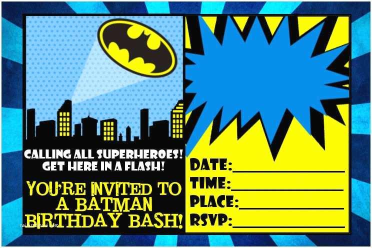 Batman Birthday Invitations Batman Invitations