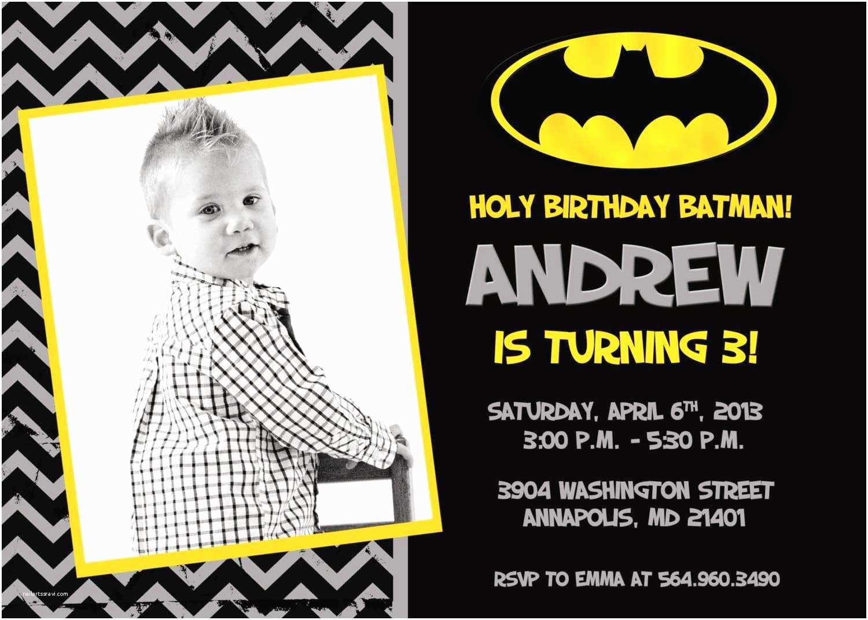 Batman Birthday Invitations Create Batman Birthday Invitations Free Templates